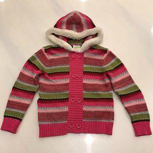 Crazy 8 Girls Long Sleeve Hooded Cardigan Sweater